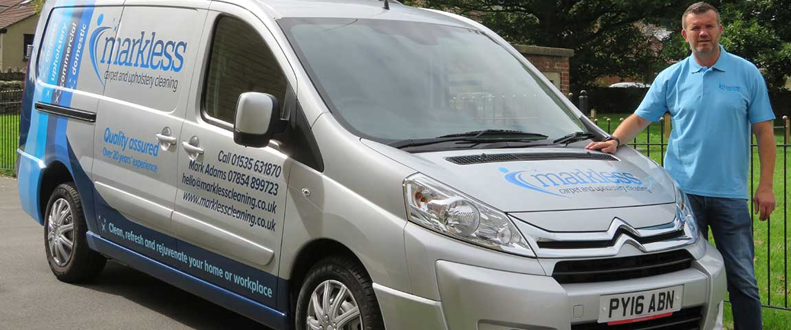 Markless Carpet Cleaning Van Signage